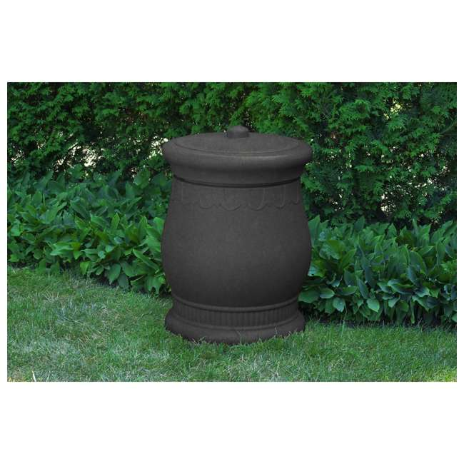 SV-URN-DAR Good Ideas Savannah Decorative 30 Gallon Storage & Waste Basket Urn, Dark Granite 1