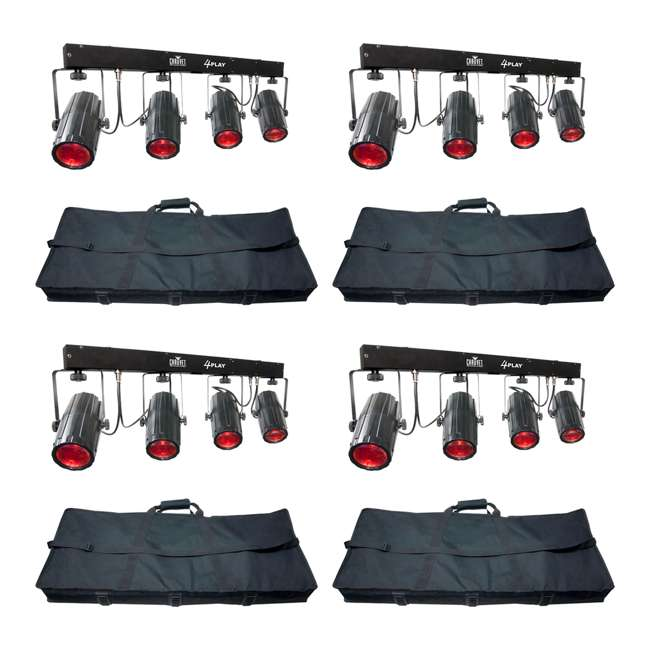 4 x 4PLAY Chauvet 4PLAY LED DMX Light Beam Bar System (4 Pack)