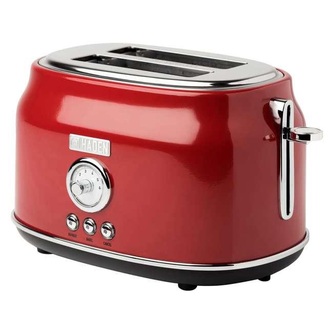 75001 Haden Dorset 2-Slice Wide Slot Stainless Steel Countertop Retro Toaster, Red