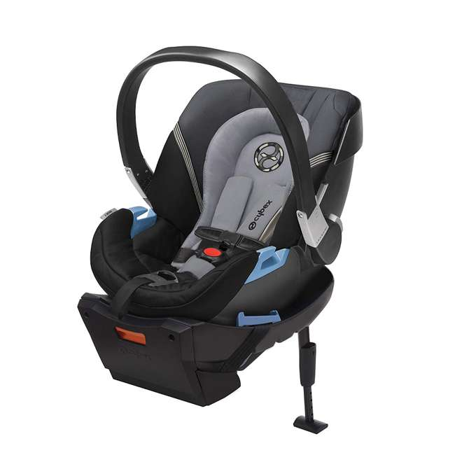 618000821 + 515103015 gb POCKIT GO Car Seat Carrier, Satin Black & CYBEX Aton 2 Car Seat 6