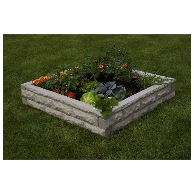 GW-RBG-SAN Good Ideas Garden Wizard Outdoor Self Watering Raised Garden Bed, Sandstone 4