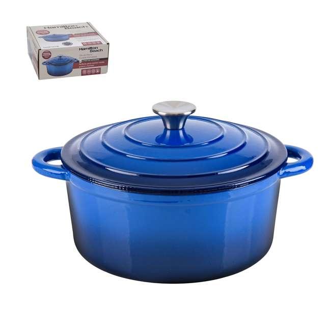HAR101B + HAR113B Hamilton Beach Dutch Oven Pot & Sauce Pan, Blue 2