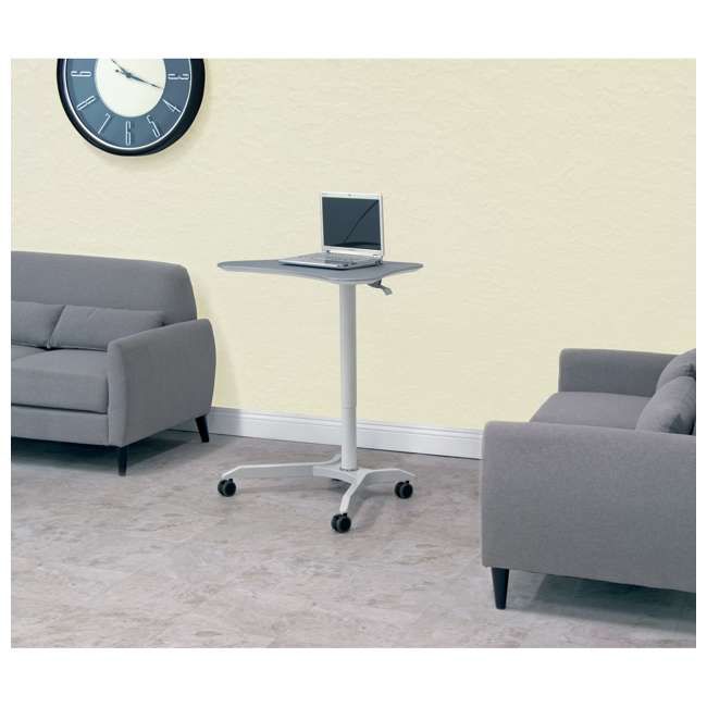 51234 Calico Designs 51234 Cascade Height Adjustable Cart & Work Station, White/Silver 8
