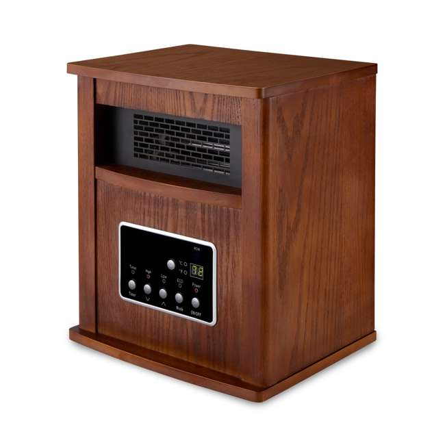 LIM-19-100004 Limina Portable Electric 1500W Infrared Quartz Cabinet Space Heater, Dark Walnut 1