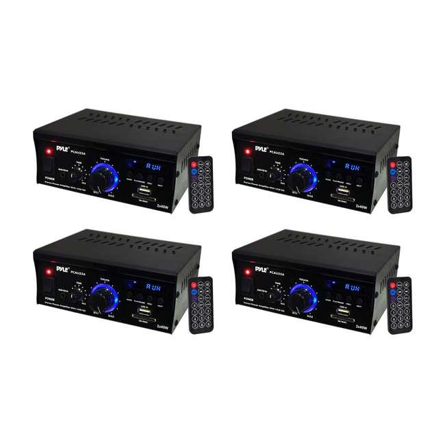 4 x PCAU25A Pyle Mini 2 x 40-Watt Stereo Power Amplifier (4 Pack)