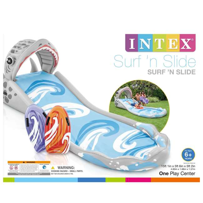 6 x 57159EP-U-A Intex Surf 'N Slide Inflatable Kids Water Slide w/ Surf Riders(Open Box)(6 Pack) 6