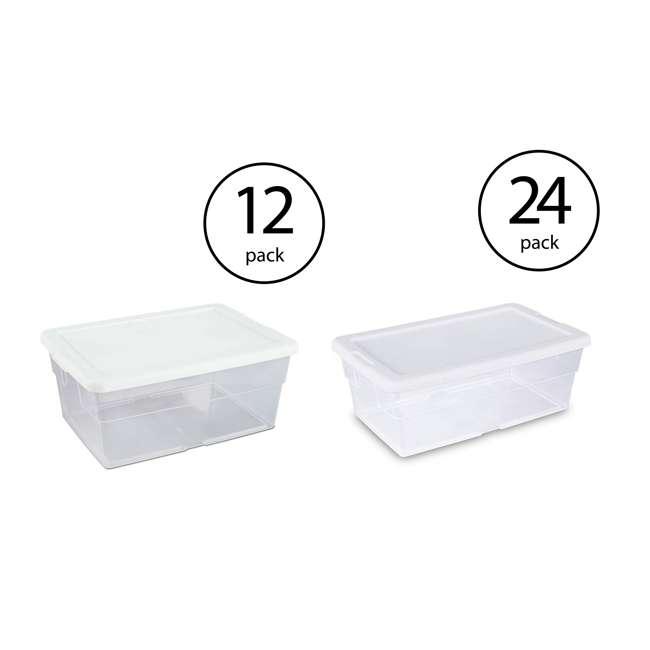 12 x 16448012 + 24 x 16428012 Sterilite 16 & 6 Quart Storage Container Tubs (12 & 24 Pack)
