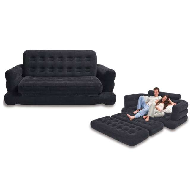 68566EP-U-B INTEX Inflatable Pull-Out Sofa & Queen Bed Mattress Sleeper (Used) (2 Pack)