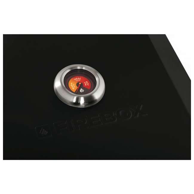 FB12E-US-U-D Bull Outdoor Products Portable Fire Box BBQ Pizza Oven, Black Enamel (Damaged) 1