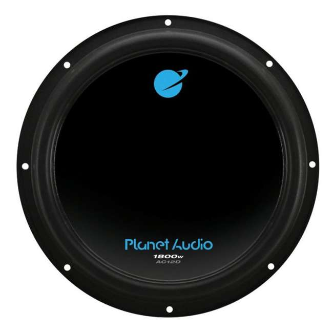 AC12D + QBOMB12V + AC15001M + AKS8 Planet Audio 12-Inch 1800W Subwoofers with Vented Lined Box Enclosure, Amp and Wiring Kit 1