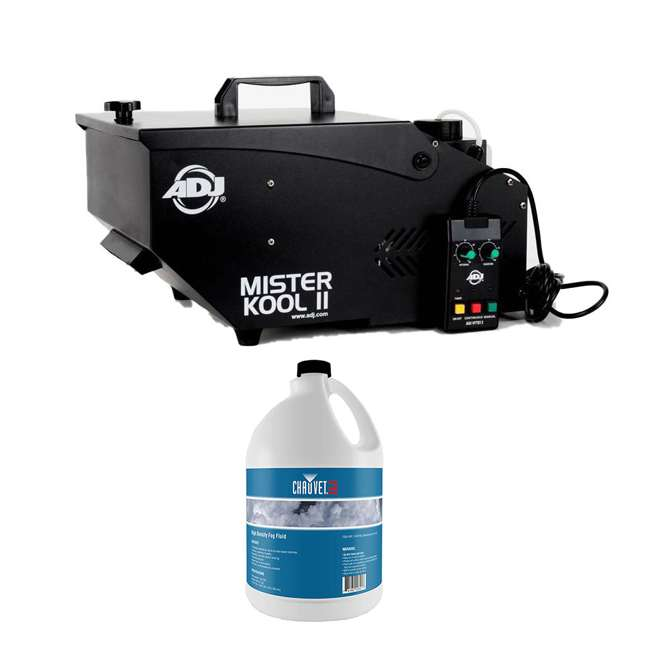MISTER-KOOL-II-BLACK + HDF American DJ Smoke Fog Machine w/ Remote & Fog Juice (1 Gallon)