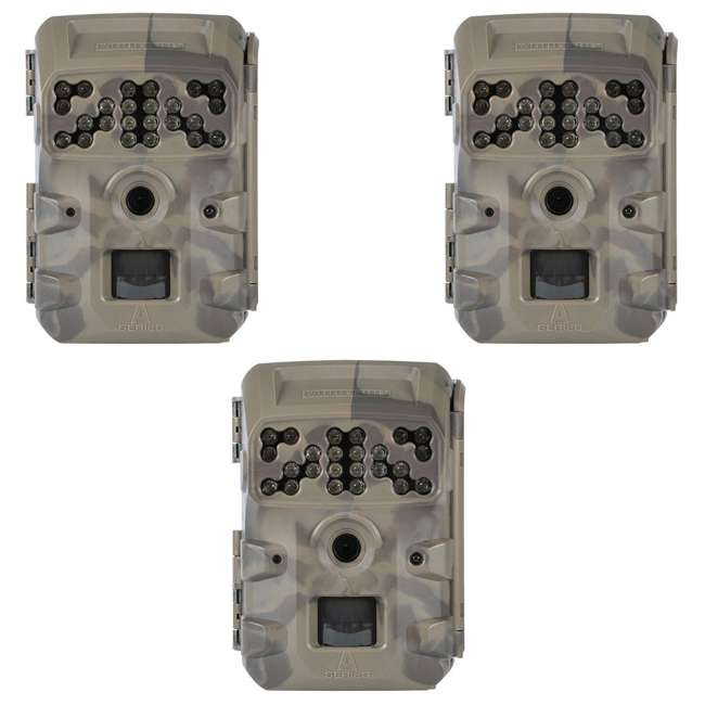 3 x MCG-13335 Moultrie Compact Night Vision Game/ Trail Camera, Smoke Screen Camo (3 Pack)