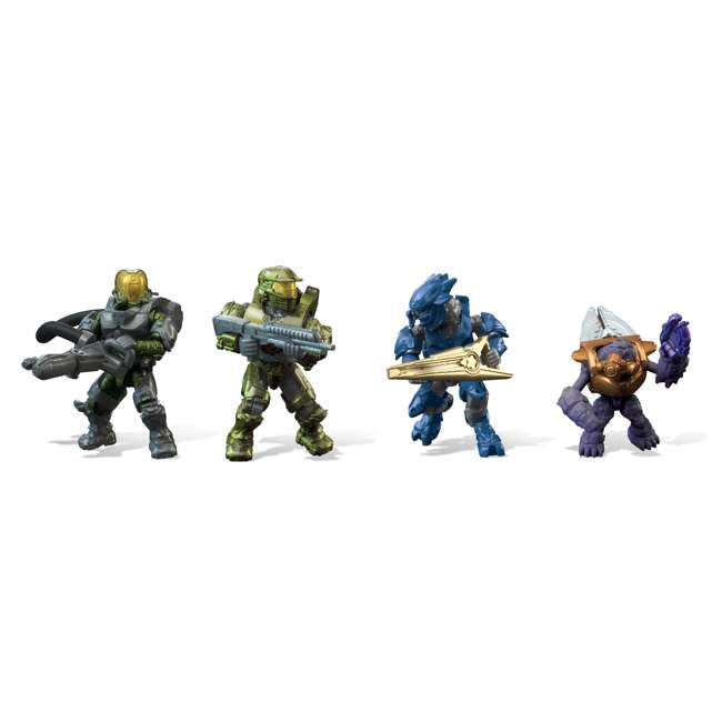 GGF83 Mega Construx Halo Aerial Ambush Block Building Set w/ 2 Vehicles & 4 Figures 2