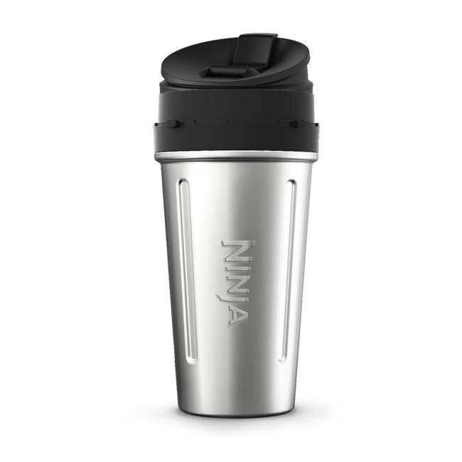 XSWDWSS24W-U-A Ninja 24-Ounce Stainless Steel Nutri Ninja Cup with Sip & Seal Lid (Open Box)