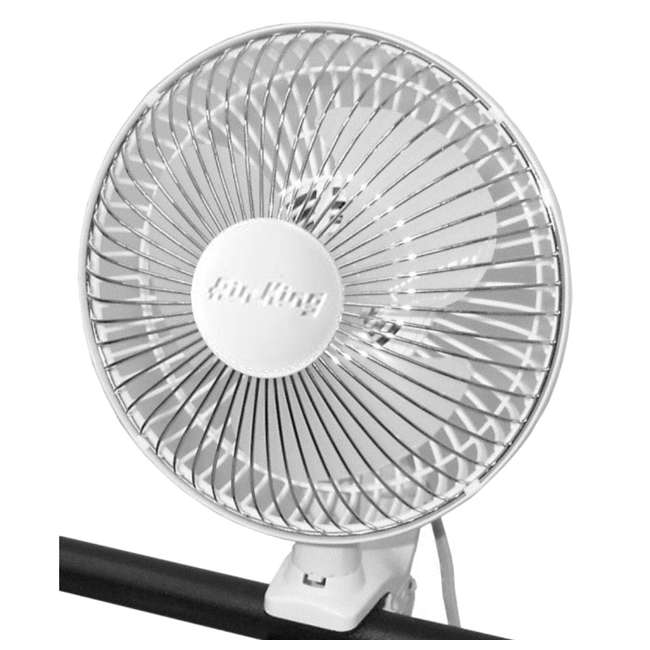 AK-9145-U-A Air King 6 Inch Commercial 120V Personal Clip On Fan Air | 9145 (Open Box) 4