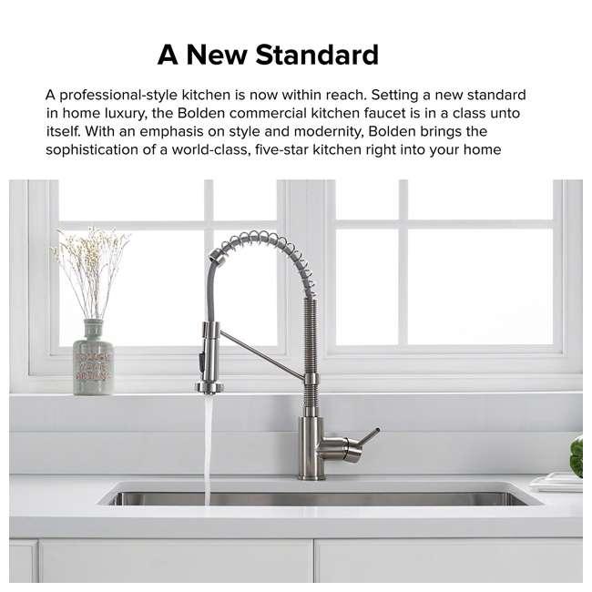 "KPF-1610SS-U-A Kraus Bolden 18"" Kitchen Faucet w/ Pull Down Sprayhead (Open Box) (2 Pack) 1"