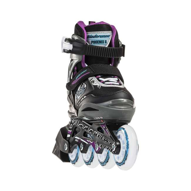 0T612300N41-11-1 Rollerblade Bladerunner Phoenix Girls Adjustable Skates, 11 thru 1, Black/Purple 4