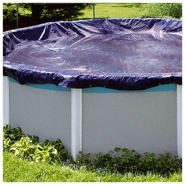 PCO831-U-A Swimline  28-Foot Round Above Ground Pool Cover, Blue + Tools (Open Box)(2 Pack) 2