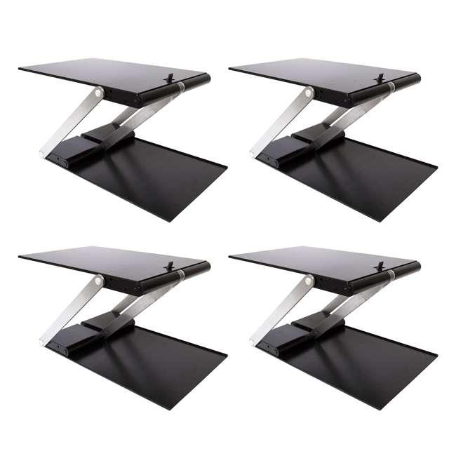 4 x UD-01-BLA Supermoon Products Up2U Height Adjustable Desk, Black (4 Pack)