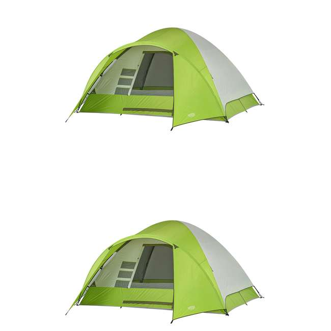 7362516 Wenzel 8-Person Portico Outdoor Family Camping Tent, Green (2 Pack)