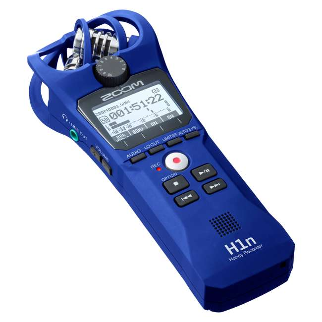 H1N-BLUE Zoom Handy Portable Wireless Digital Audio Recorder & Mike, Blue 1
