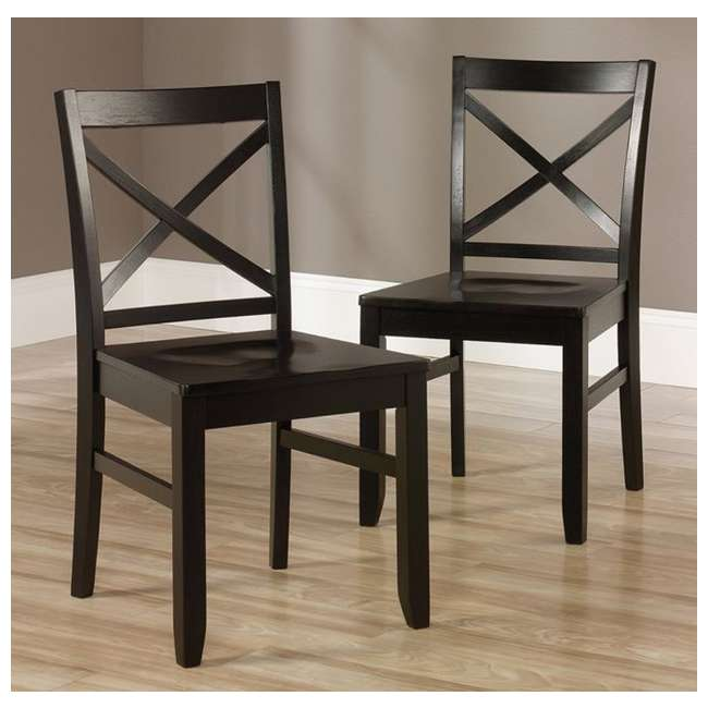 sauder 415096 harbor view black drop leaf kitchen dining table w 2 x back chairs sf 415096. Black Bedroom Furniture Sets. Home Design Ideas