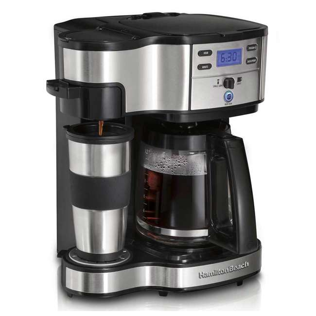 49980A-U-C Hamilton Beach 2 Way Coffee Maker with 12 Cup Carafe and Pod Brewing (For Parts)