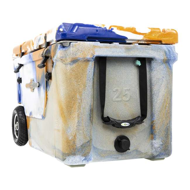 HC50-17ONW WYLD HC50-17ONW 50 Qt. Dual Compartment Insulated Cooler w/ Wheels, Orange/Blue 5