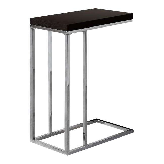 VM-3007 Monarch Specialties Contemporary Accent Side End Table, Cappuccino (2 Pack) 1