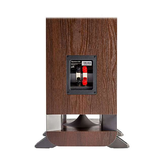 Signature-S55-Medium-Tower-Walnut - OB Polk Signature S55 Series Audio American HiFi Home Theater Tower Speaker Walnut 2