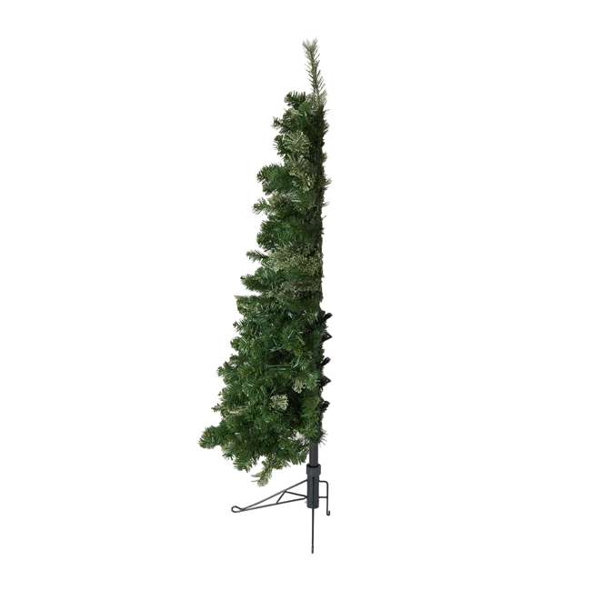 TG50M2AKML00 Home Heritage Cashmere 5 Foot Artificial Christmas Half Tree with LED Lights