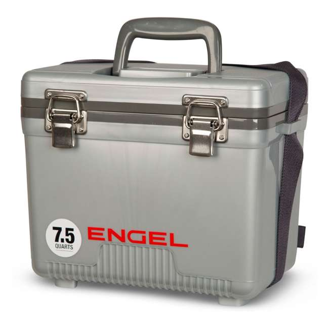 UC7S Engel 7.5-Quart EVA Gasket Seal Ice and DryBox Cooler with Carry Handles, Silver 2