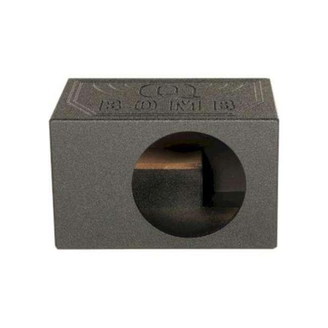 QBOMB12VLSQ-SINGLE Q Power QBOMB12VLSQ Single 12 Inch Side Ported Speaker Box for Kicker L7 Sub 2