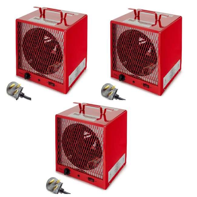 3 x DR-988R Dr. Infrared Heater 240 Volt 5600 Watt Garage Portable Space Heater (3 Pack)