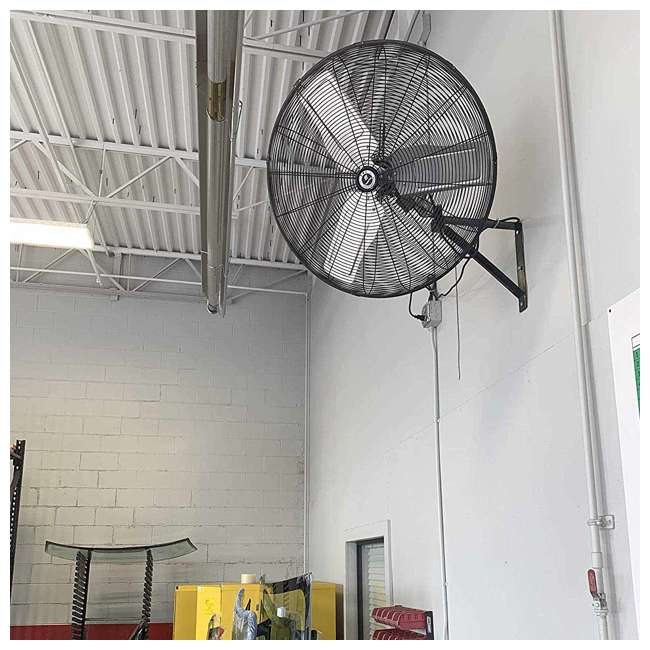 "CACU30W TPI Corporation 30"" 3-Speed Single-Phase Wall Mount Commercial Circulator Fan 1"