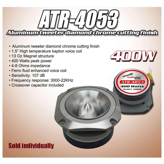 10 x ATR4061 Audiopipe ATR-4053 400W Aluminum Tweeter (10 Pack) 3