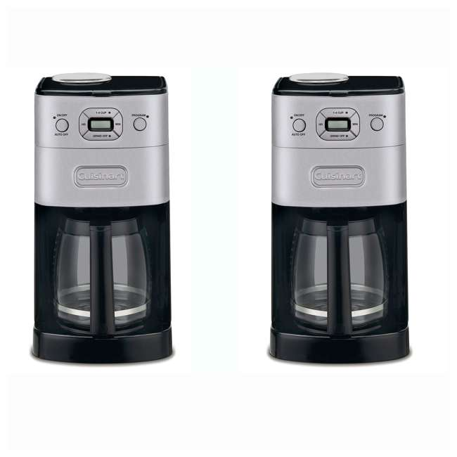 DGB-625BC-RB Cuisinart 12 Cup Extreme Brew Coffee Maker (2 Pack) (Certified Refurbished)