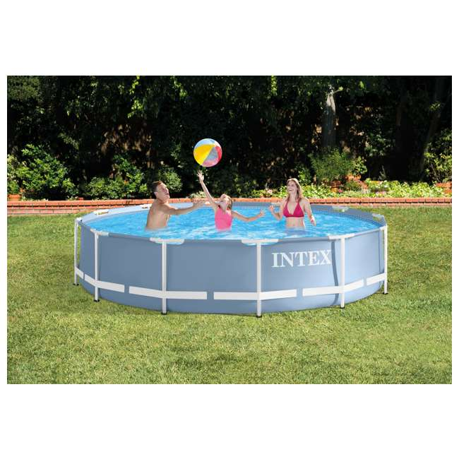 Intex 12 feet x 30 inches prism frame pool 28711eh - Intex prism frame ...