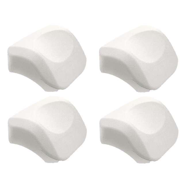 4 x 28505E Intex PureSpa Cushioned Foam Headrest Pillow Hot Tub Spa Accessory, White 4 Pack