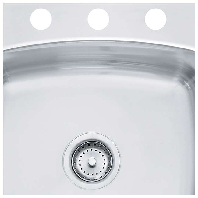 "SL103BX-OB Franke Axis 20"" x 20"" x 10""Undermount Single Bowl Kitchen Sink, Silver(OPEN BOX) 3"