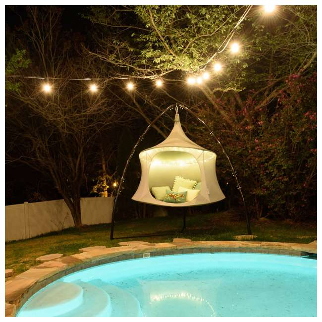 TP1600GR TreePod Cabana Lightweight Heavy Duty Lounger 6 Foot Hanging Daybed, Graphite 4