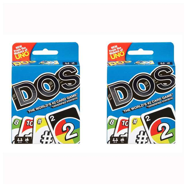FRM36 Mattel UNO DOS Kids Multiplayer Card Game (2 Pack)