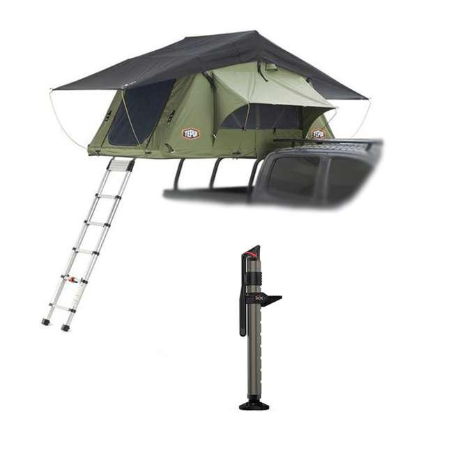 01KRG051606 + 1060001 Tepui Kukenam Ruggedized Sky 3 Person Outdoor Roof Top Tent & Hydraulic Jack