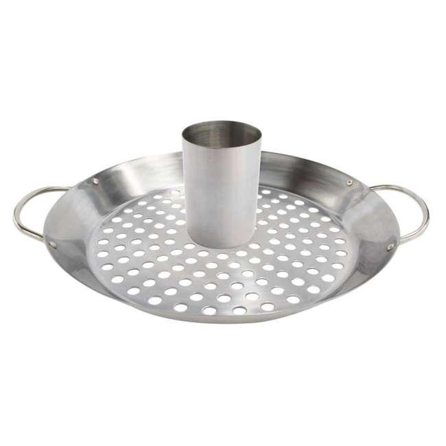 BOPA-24105 + BOPA-24106 Bull Flat Top Grill Griddle & Convertible Wok/Vertical Smoker Rack 2