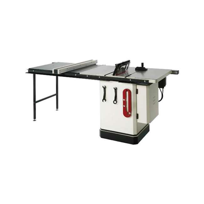 WOOD1820 Shop Fox W1820 3-HP Cabinet Table Saw with Riving Knife and Long Rails, White 1