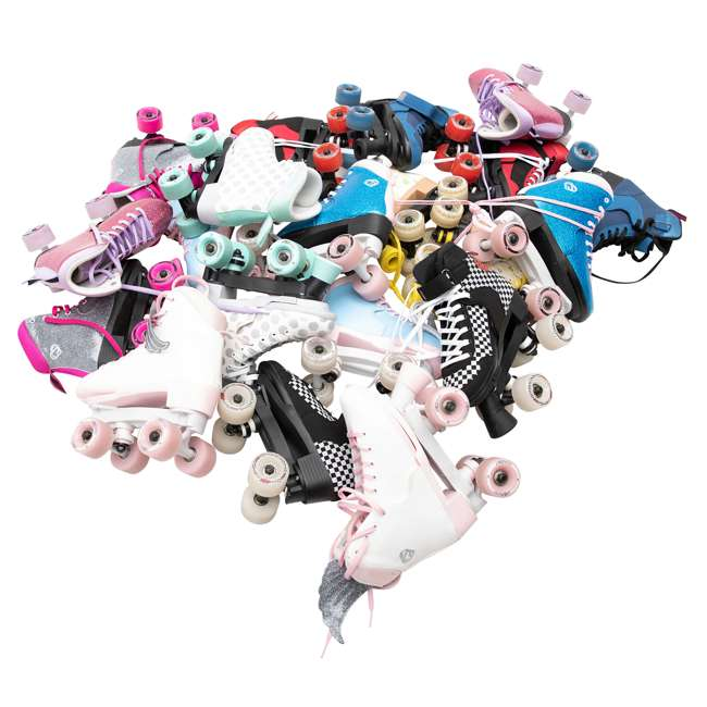168221 Circle Society Street Checkered Kids Skates, Sizes 3 to 7 9