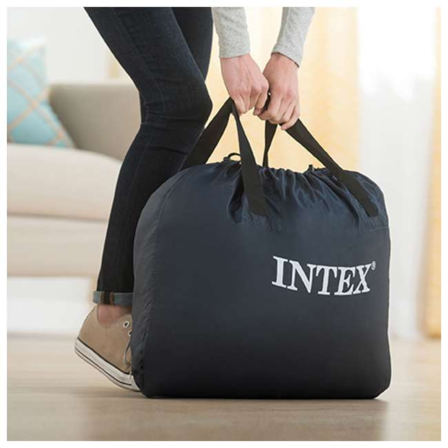 64455EP Intex Ultra-Plush Inflatable Airbed Mattress w/Built-in Pump, Twin  6