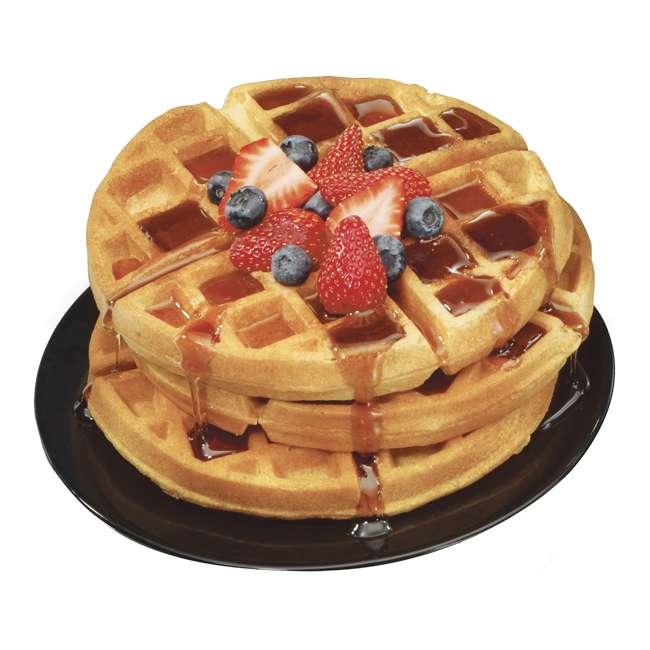 26030 + WAFFLE150 Hamilton Beach Removable Grid Belgian Waffle Maker & 150 Waffle Maker Recipes 2