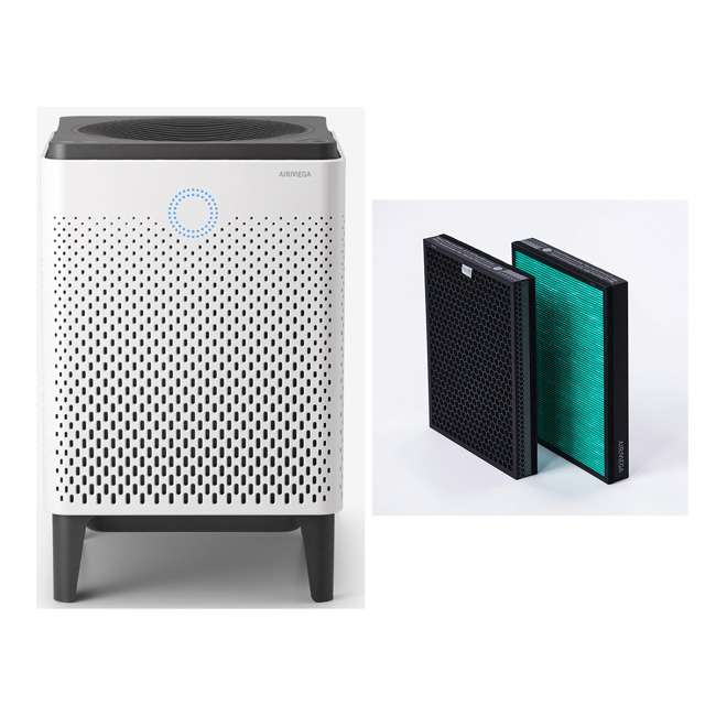 AIRMEGA400 + AP-2015-FP Coway HEPA Air Purifier with Air Quality Monitoring + 400 Series Filter Pack