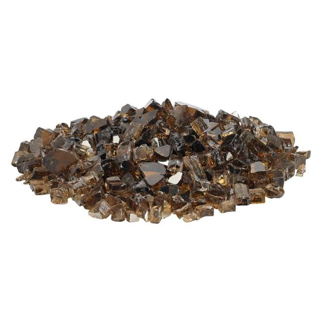 AFF-COPRF12-10 American Fireglass 10 LB Bag 1/2 Inch Reflective Fireplace & Pit Glass, Copper 1